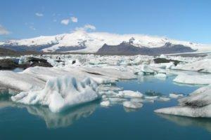 The icelandic glacier lagoon