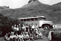 Old coach GJ-Travel Iceland