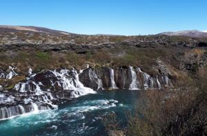 Visit Hraunfossar in Iceland with GJ Travel